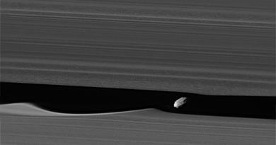 Daphnis, le satellite qui se cache dans les anneaux de Saturne.