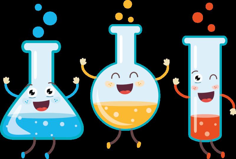 lab flask chemistry lab illu