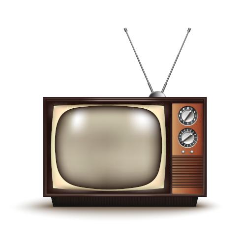 3d,Realistic,Retro,Tv.,Vintage.vector,Illustration