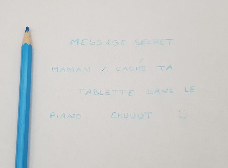 écrire un message secret