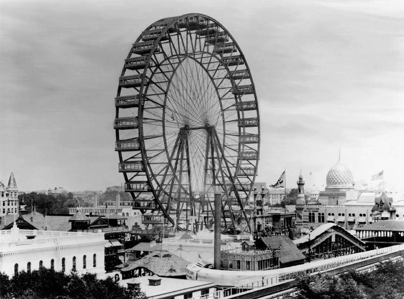 la grande roue de Ferris à l'exposition universelle de Chicago en 1893