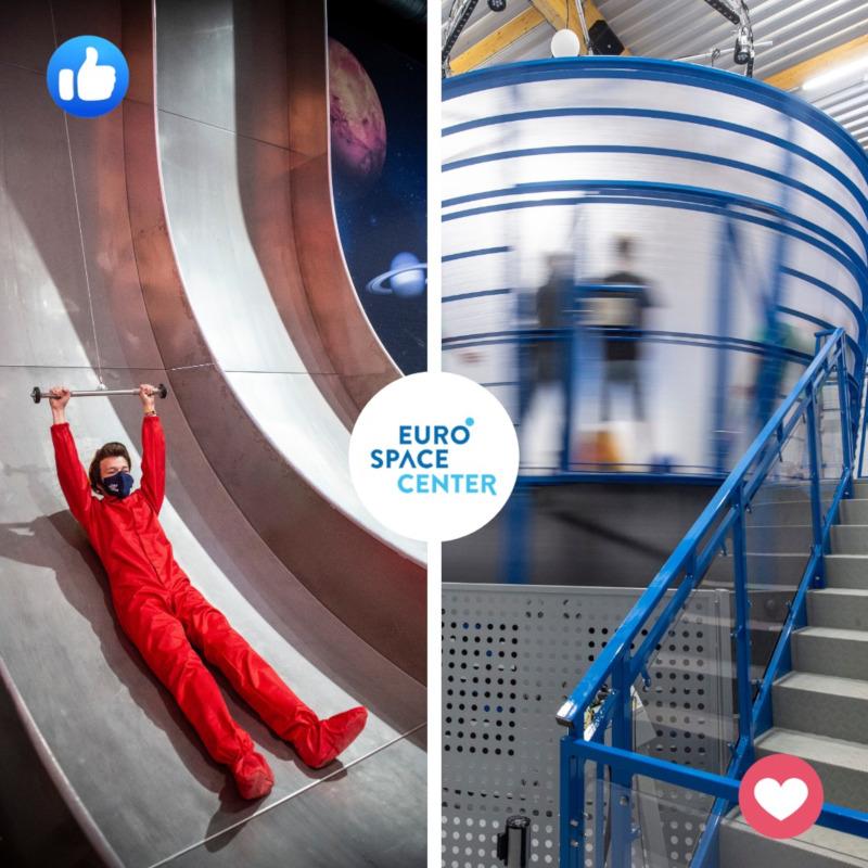 free fall slide eurospace center