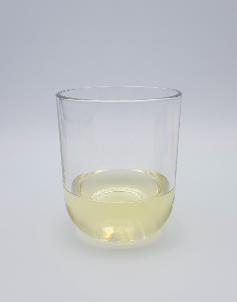 sunflower oil in a glass